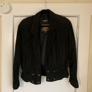 Thinsulate by Wilson Black Leather Jacket sz Small